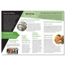 Food Safety Training Brochure