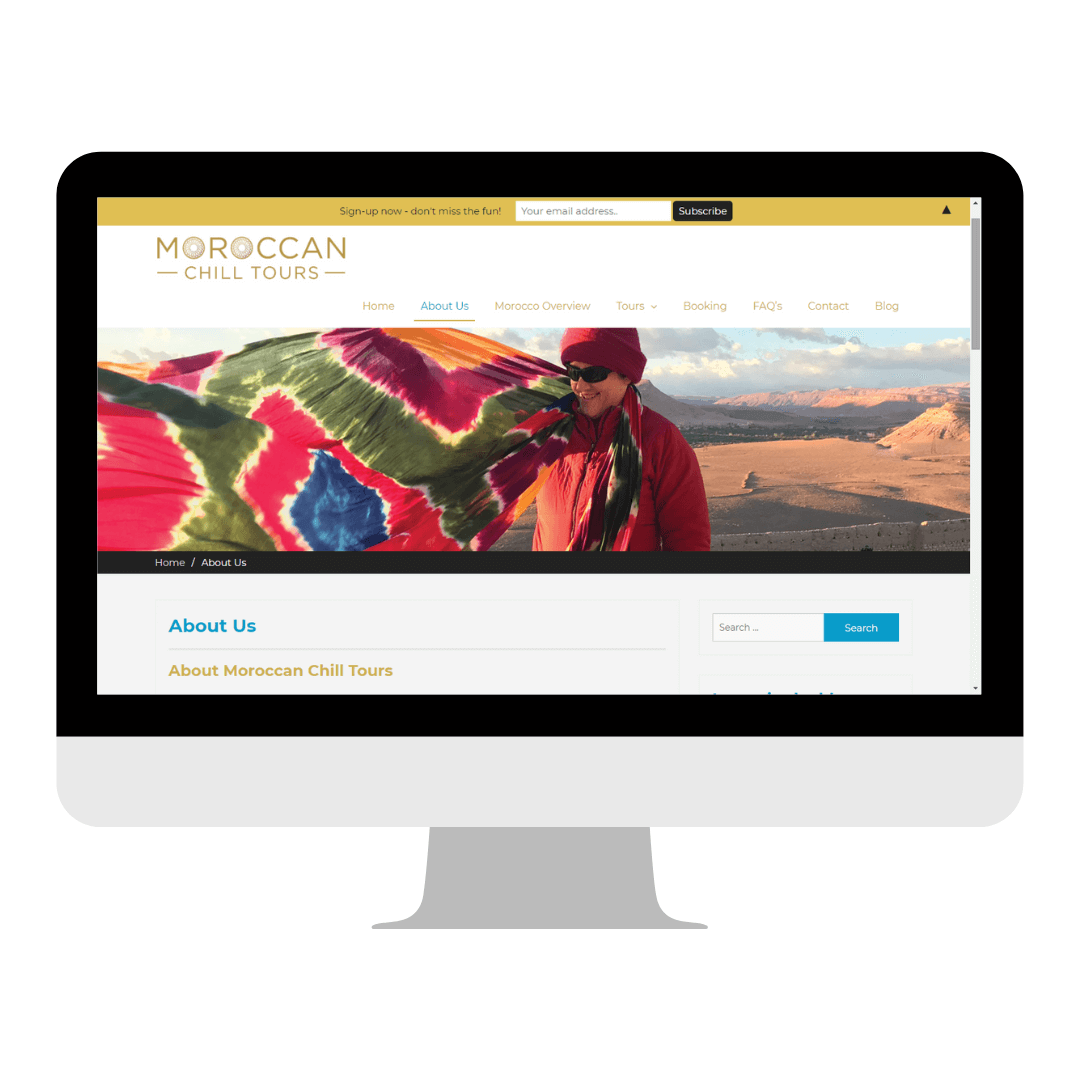 Moroccan Chill Tours Website