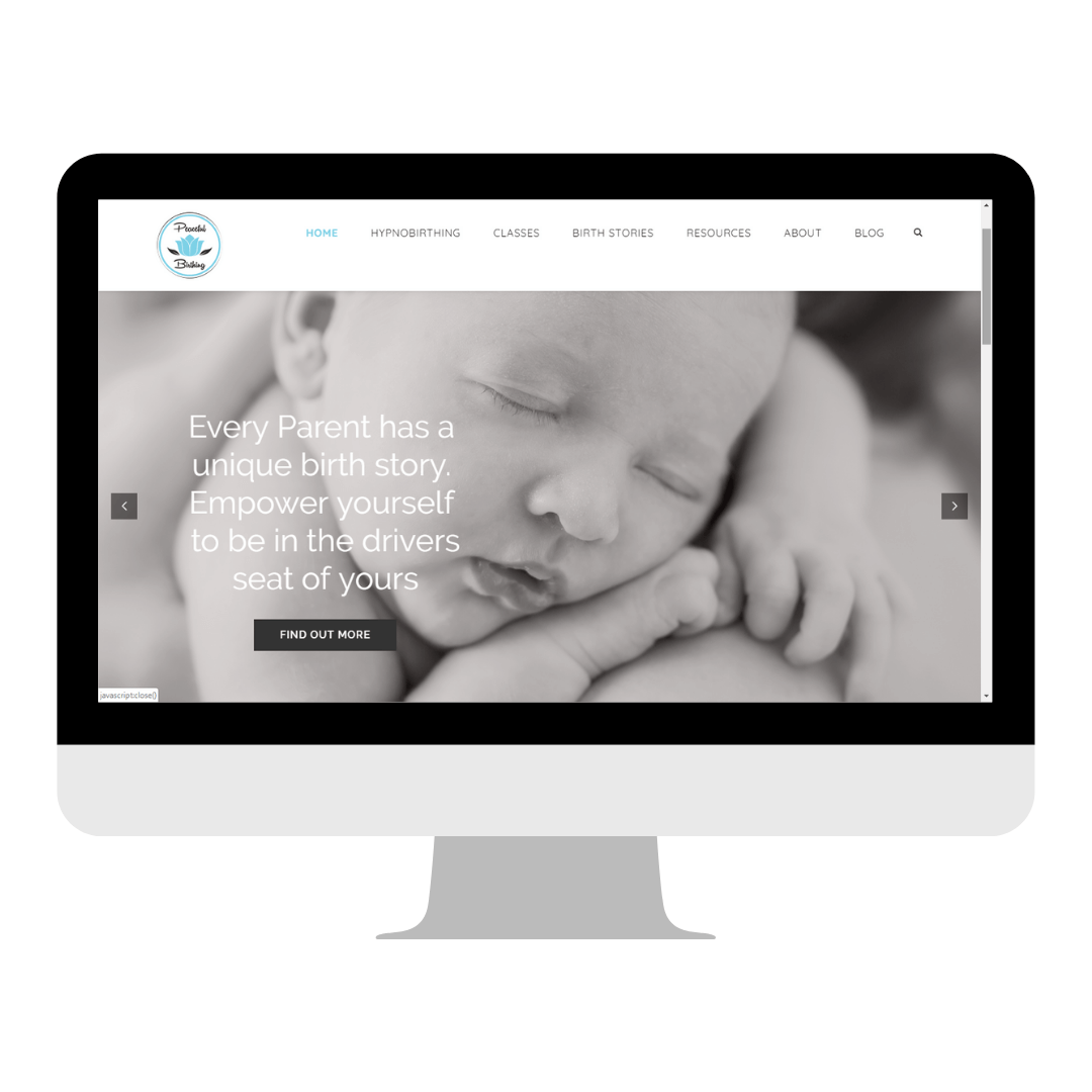 Peaceful birthing website