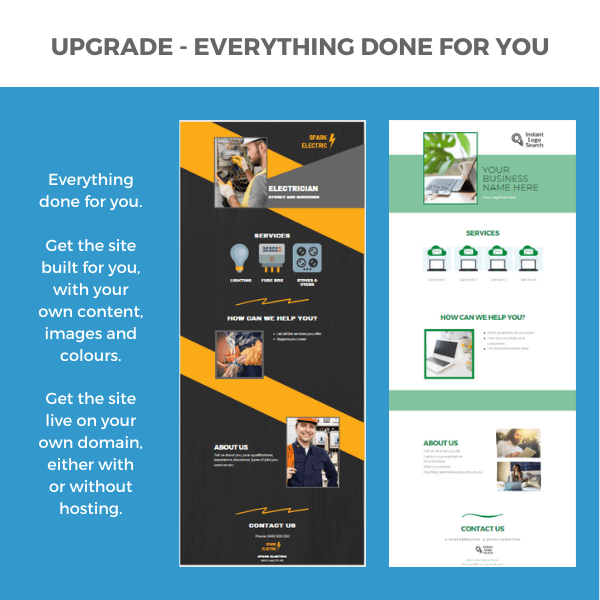 Upgrade One Page Website Done For You